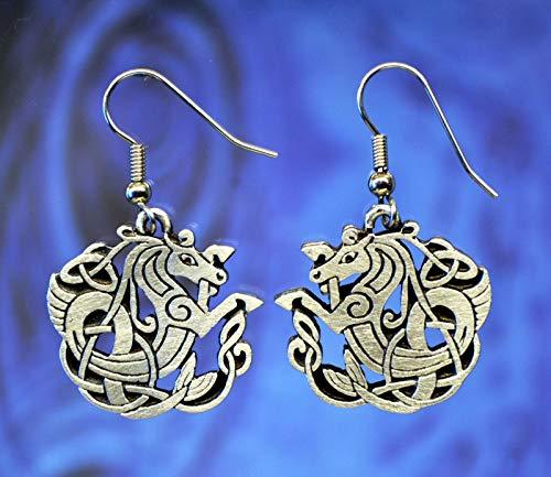 Celtic Seahorse Earrings Celtic Jewelry Designs in Fine Pewter