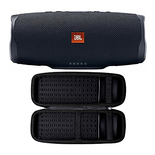 JBL Charge 4 Portable Bluetooth Speaker (Black) with Knox Gear Hard Travel Case Bundle (2 Items)
