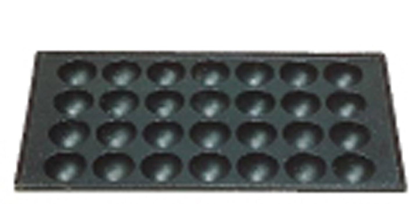 主人お酢魔女三和精機製作所 たこ焼用鉄板 28穴 鉄鋳物 GTK10