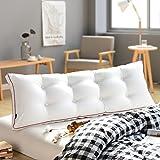 Gewaschener Baumwolle Gefüllt Dreieckige Bett Keil Kissen Lesen kopfkissen, Tatami Sofa Bett rückenlehne Support für Position Lumbale pad Entfernbar-F 180x20x50cm(71x8x20inch)