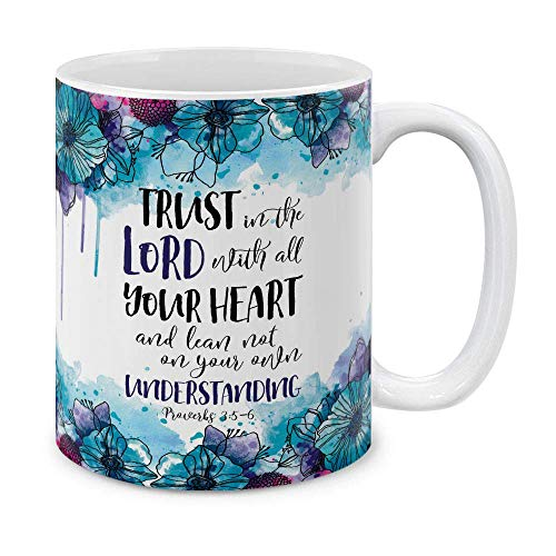N\A Christian Bible Proverbios 3: 5-6 cerámica Taza Taza de té, 11 OZ