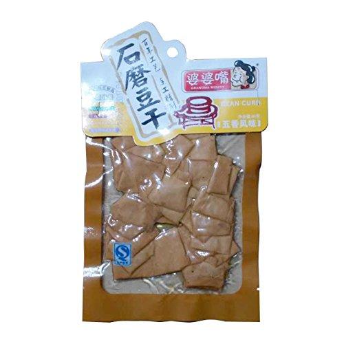 中国特産品 石磨豆腐干(豆干) 豆腐加工品(味付け) 婆婆嘴 (五香風味(中国香辛料煮漬け)) 90g×3袋