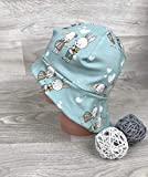Sonnenhut inkl Nackenschutz 41-54 Jersey mütze mint Hase kopftuch, Sonnenschutz baby, Schirmmütze, s