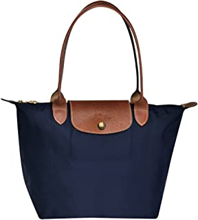 Longchampag Le Pliage Large Shoulder Tote Bag Navy blue