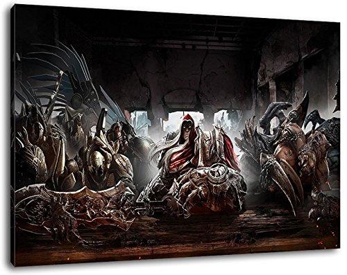 Darksiders Format 120x80 cm Bild auf Leinwand, XXL riesige Bilder fertig gerahmt mit Keilrahmen, Kunstdruck auf Wandbild mit Rahmen