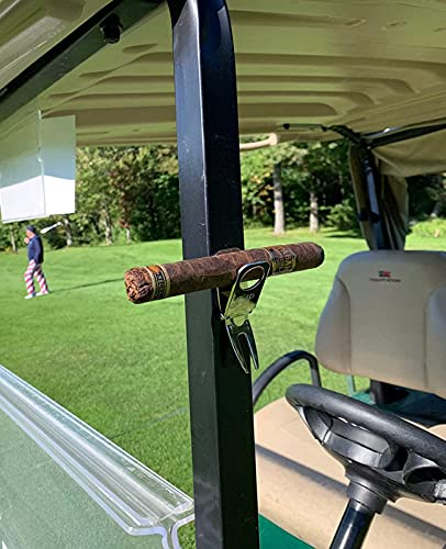 Golf Divot Tool with Ball Marker Cigar Holder, Multipurpose Golf Accessories