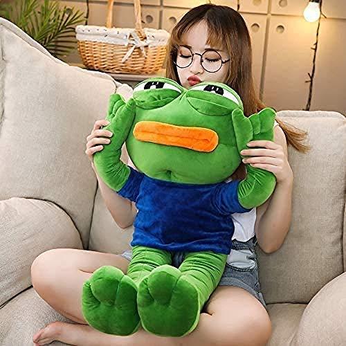 N/D Plush Toys 50cm Cute Magic Expression Pepe The Frog Sad Frog Plush Stuffed Dolls Animal Toy Kawaii Gift for Girls Kids