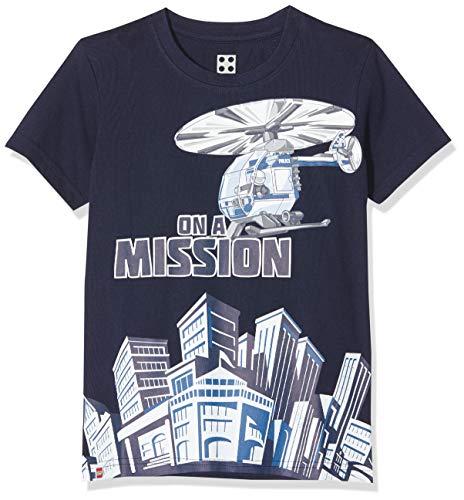 LEGO Jungen CM-50433-T-SHIRT S/S T-Shirt, Blau (Dark Navy 590), (Herstellergröße: 110)