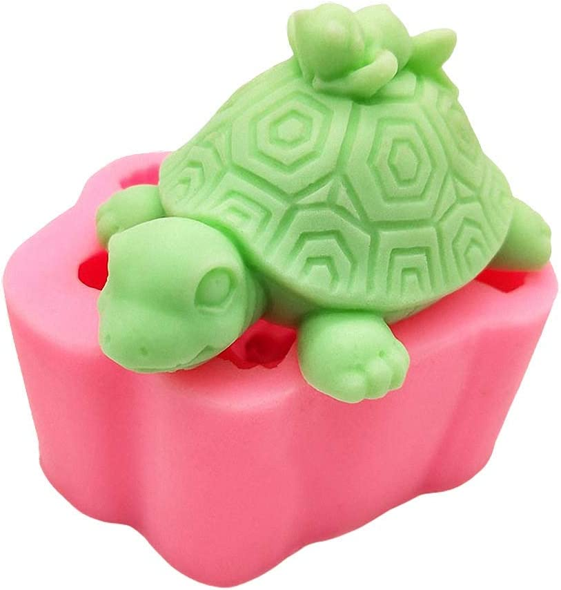 3D Turtle Silicone Fees free Soap Mold Tortoise Wax Craft Candle Handmade 2021 spring and summer new