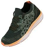 KOUDYEN Zapatillas Deporte Hombres Mujer Gimnasio Running Zapatos para Correr Transpirables Sneakers,XZ581-Orange-EU40