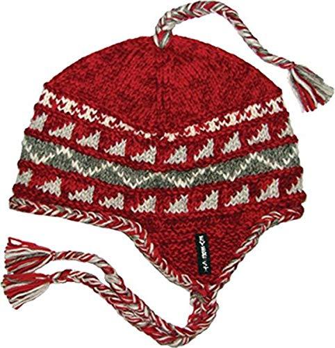 Everest Designs Sherpa Ohrenklappe, Unisex-Erwachsene, rot, One Size