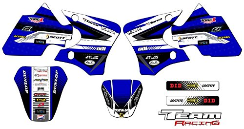 Team Racing Graphics kit compatible with Yamaha 2000-2008 TTR 90, ANALOG Base kit