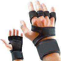 Guantes para entrenamiento y gimnasio, CoWalkers guantes de levantamiento de pesas con soporte para la muñeca para...