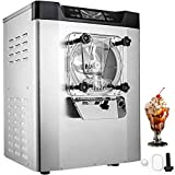 VEVOR Commercial Ice Cream Machine 1400W 20/5.3 Gph Hard Serve Ice Cream Maker with LED Display Screen Auto Shut-Off Timer One Flavors Perfect for Restaurants Snack bar Supermarkets