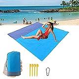 Gonex Alfombras Playa Manta Picnic Suelo Camping Esterilla Anti Arena Lona Impermeable Exterior Colch/ón Cubierta para Jard/ín Parque Piscina Acampada Viaje al Aire Libre Naranja: 200 x 200 CM