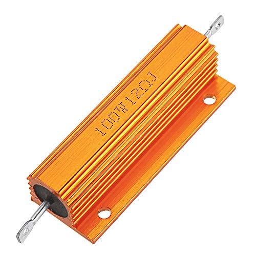 JJBHD Electronic Accessoires & Supplies RX24 100W 12R 12RJ Metall Aluminiumgehäuse Hohe Leistungswiderstand Golden Metallschalengehäuse Kühlkörper Widerstandswiderstand Um Ihnen die Qualität der Exzel