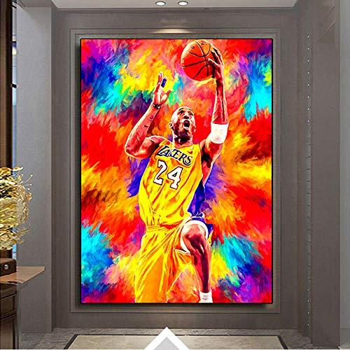 DFGRHG Póster de Gran Jugador de Baloncesto de Estilo nórdico, Pintura en Lienzo, Arte de Pared, decoración de Sala de Estar del hogar, 60x80cm (sin Marco)
