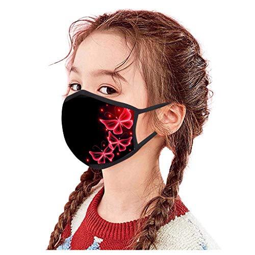 Eaylis 5 Stück Kind Face Mask Multifunktionstuch Weihnachten Maske Waschbar Wiederverwendbar Stoffmaske Baumwolle Mund-Nasen Bedeckung Verstellbar Atmungsaktiv Halstuch Schals für Herren Damen