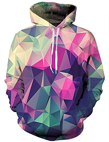 Linnhoy 3D Space Hoodie Awesome Casual Sports Hoodies Sweatshirts for Teen Boys, Large