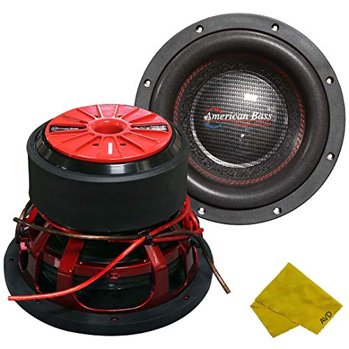 American Bass 10' Competition Car Subwoofer, 3000 Watt Maximum Power, Bass Surround Speaker, Car Audio Stereo Subwoofer - 10 inch, Dual 4 Ohm Voice Coil