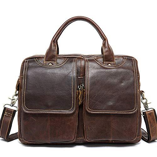 Poooooi Männer Aktentasche Umhängetasche Reisetasche Querschnitt Männer Umhängetasche Umhängetasche Retro-Serie Tasche Leder Männer,04