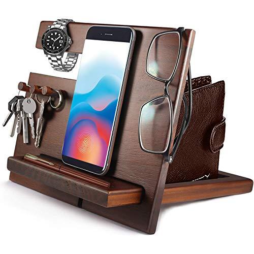 Idee Regalo Uomo Regali segreti di Babbo Natale Docking Station in legno per telefono (3 ganci)...