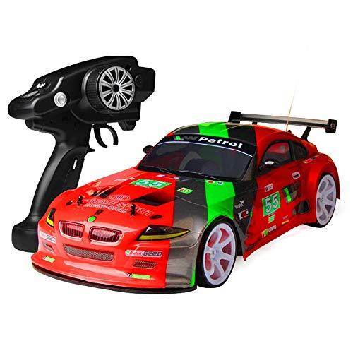 RC Car,MUZoo Grande quattro ruote motrici 01:10 Squisito telecomando Drift Model Car, 70 km / h fuori strada auto ad alta velocità che corre, Wireless Charging professionista RC Racing, Genitore-Bambi