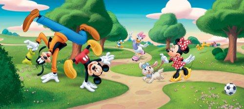 Fotobehang Disney Mickey Mouse Goofy Minnie Daisy 202 x 90 cm
