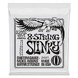 Ernie Ball Slinky Cuerdas para guitarra eléctrica de níquel, 8 cuerdas, entorchado - 10-74 Calibre