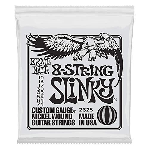 Ernie Ball Slinky Cuerdas para guitarra eléctrica de níquel, 8 cuerdas, entorchado...
