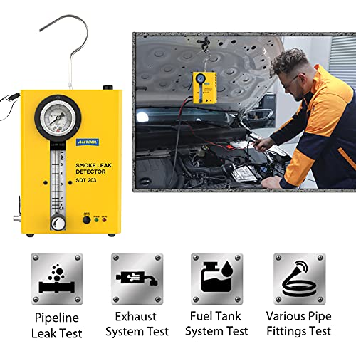 AUTOOL Smoke Leak Detector,Automotive Smoke EVAP Leaks Testing Machine, Portable Pipes Fuel Leakage Detector Diagnostic Tester For 12V Vehicles