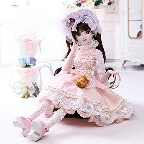 1 3 BJD Reborn Puppen Rosa Kleid Ver erbare Haar 6cm Kann Dressup Ball Gelenk Spielzeug HMYH