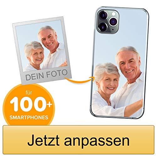Coverpersonalizzate.it Handyhülle für Apple iPhone 11 Pro mit Foto-, Bildern- oder Text selbst gestalten- Die Handyhülle ist aus weichem transparentem TPU-Silikon-Gel Material