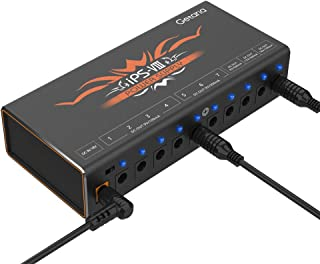 Getaria Guitar Pedal Power Supply Isolated 10 Outputs for 9V/12V/18V Effects Pedals with USB Charging port (Black)