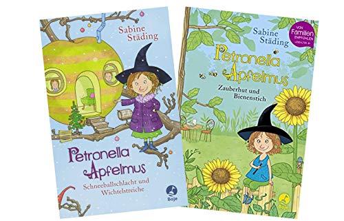 Petronella Apfelmus - Set: Schneeballschlacht und Wichtelstreiche (Band 3) + Zauberhut und Bienenstich (Band 4) (Gebundene Bücher)