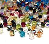 160 perlas de cristal de Bohemia Preciosa de 4 mm, doble cono, multicolor, juego de perlas checas, perlas de cristal talladas