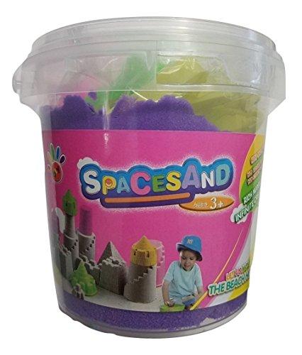 JM Future Space Sand/Moon, Crazy Magic Mold-N-Play Educational Creative Fun Kids DIY Toy with 6 Mode, 2.2 lb., Purple