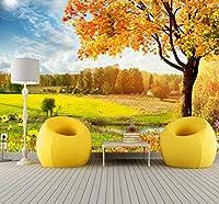 Wkxzz 壁の背景装飾画 カスタム写真壁紙美しい秋のカエデの葉風景背景リビングルームテレビ装飾壁紙壁画-120X100Cm