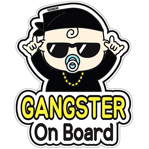 BSL Baby on Board Sticker and Decal for Hiphop Baby - Baby Bumper Car Sticker - Baby Window Car Sticker - Baby in Car Sticker - Cute Safety Caution Decal Sign for Cars…