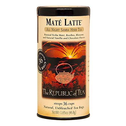 The Republic Of Tea Mate Latte Herbal Tea, 36 Tea Bag Tin