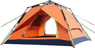 IDWOI-tält automatisk camping tält pop-up omedelbart vattentät 3-4 personer Sun Shelter kupol par tält, 3 färger (färg: Or...