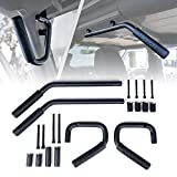 Xprite Black Front & Rear Grab Bar Steel Grab Handle Kit for 2007-2018 Jeep Wrangler JK