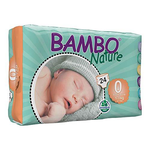Bambo Nature prematuro Eco Pañales, tamaño 0, 24piezas