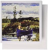 フローレン有名なアート–写真の1892Winslow Homer Painting Theブルーボート–グリーティングカード Set of 12 Greeting Cards