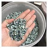 100 g de grava de cristal natural de cuarzo de fresa de cristal para decoración del hogar, colorido para acuario, piedras y minerales (color: pino verde africano, tamaño: 100 g)