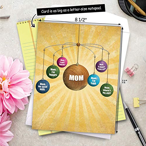 Where is Mom - Happy Mother�s Day Greeting Card with Envelope (Big 8.5 x 11 Inch) - Humorous Universe, Sun Notecard Stationery for Mom, Mother - Big, Funny Mothers Day Card J0208 Photo #7