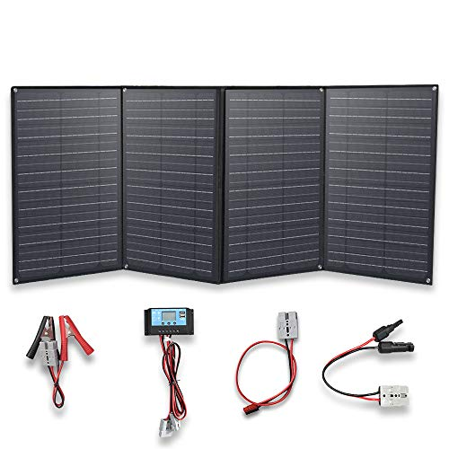 YUANFENGPOWER 200w 12 V Faltbar Solarpanel Solar Ladegerät solarmodul mit 20A Laderegler für Boot, Auto, Caravan, Wohnmobil, Camping, Reisen, 12v Batterie Charging (200)