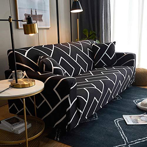 Simplicidad Moderna Elastica Funda de Sofa 2 plazas y 3 plazas Fundas de sofá Florales con diseño Floral Four Seasons para Sala de Estar, sofá Funda elástica 145-185cm y 190-230cm2 PCS