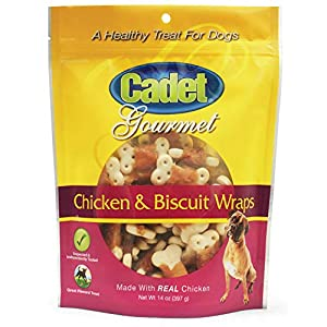 Cadet Premium Gourmet Chicken & Biscuit Wrap Treats for Dogs, 14 oz.