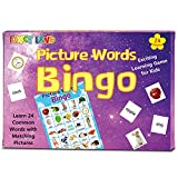 Picture Word Bingo Game Match It Reading Educational Action Games for...